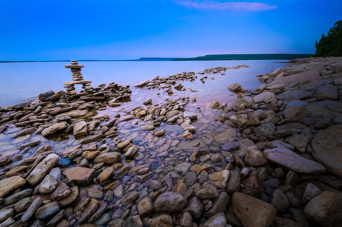Rocky Beach and Inukshuk at Dusk - image 1 - student project