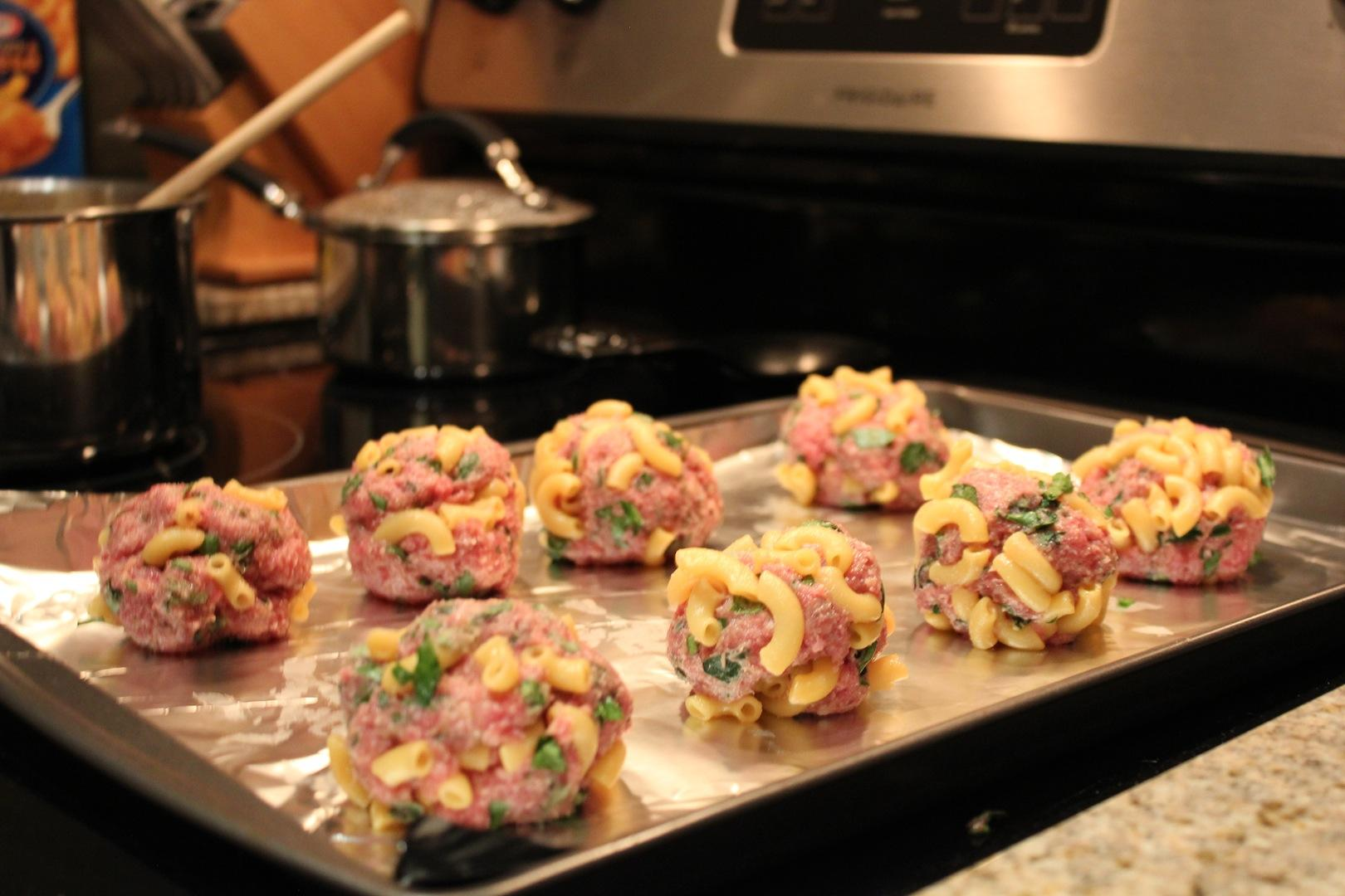 Mac & Cheese Meatballs - image 3 - student project