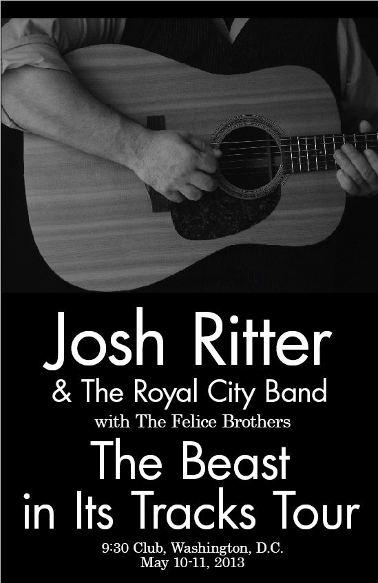 Completed - Josh Ritter Gig Poster @ 9:30 Club - image 4 - student project