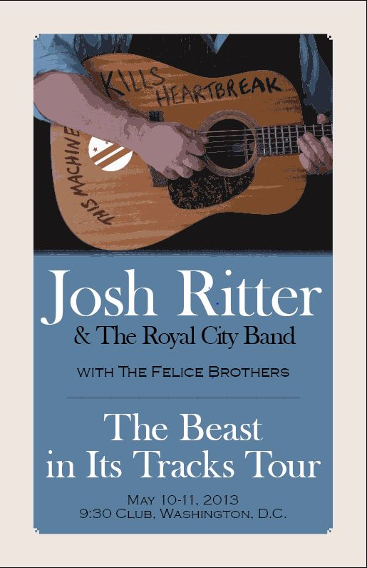 Completed - Josh Ritter Gig Poster @ 9:30 Club - image 2 - student project