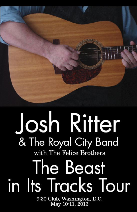 Completed - Josh Ritter Gig Poster @ 9:30 Club - image 3 - student project