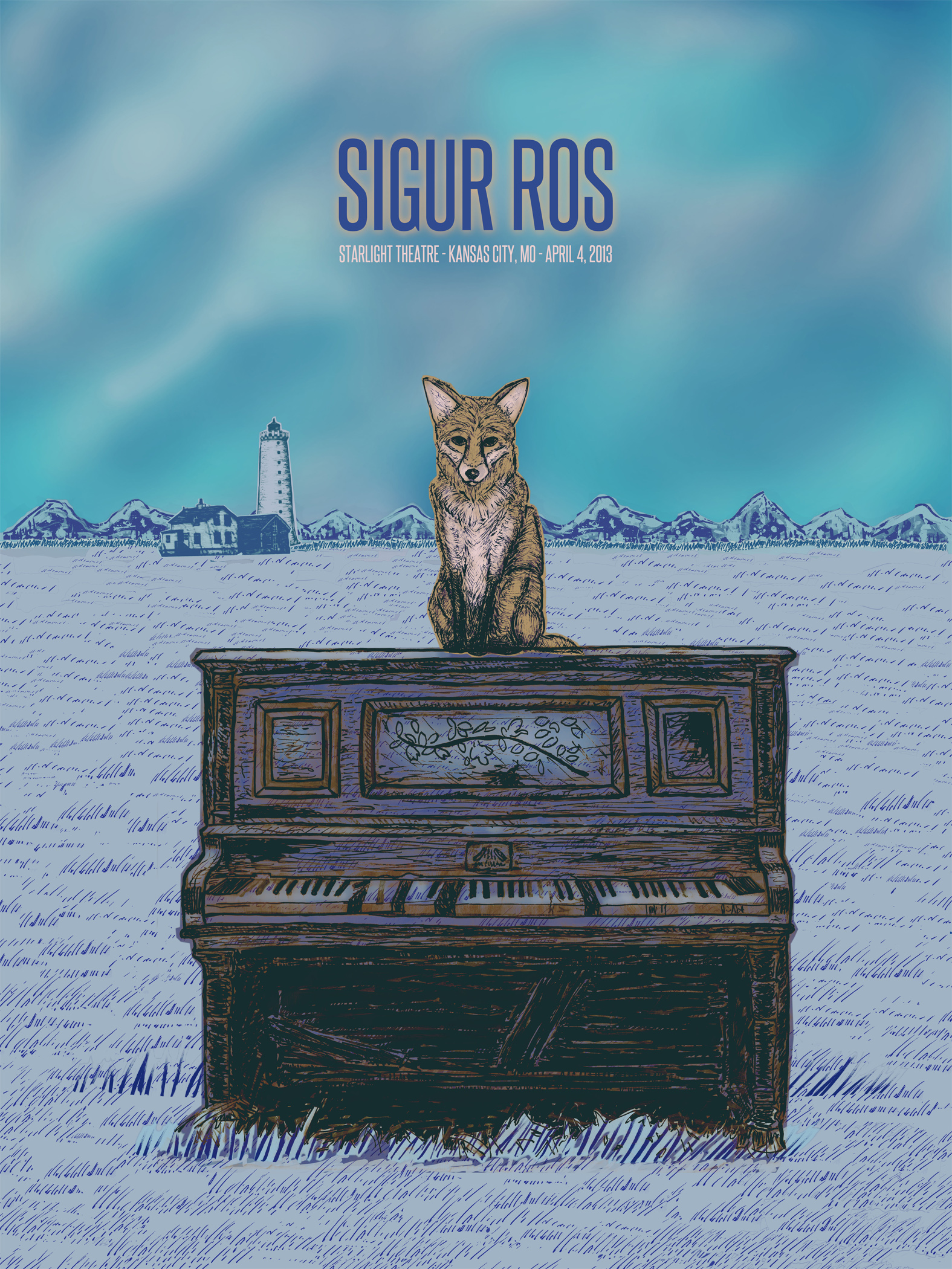 Sigur Ros Gig Poster  - image 12 - student project