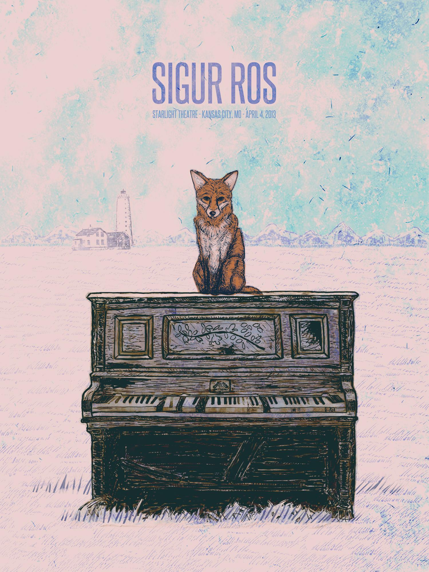 Sigur Ros Gig Poster  - image 15 - student project