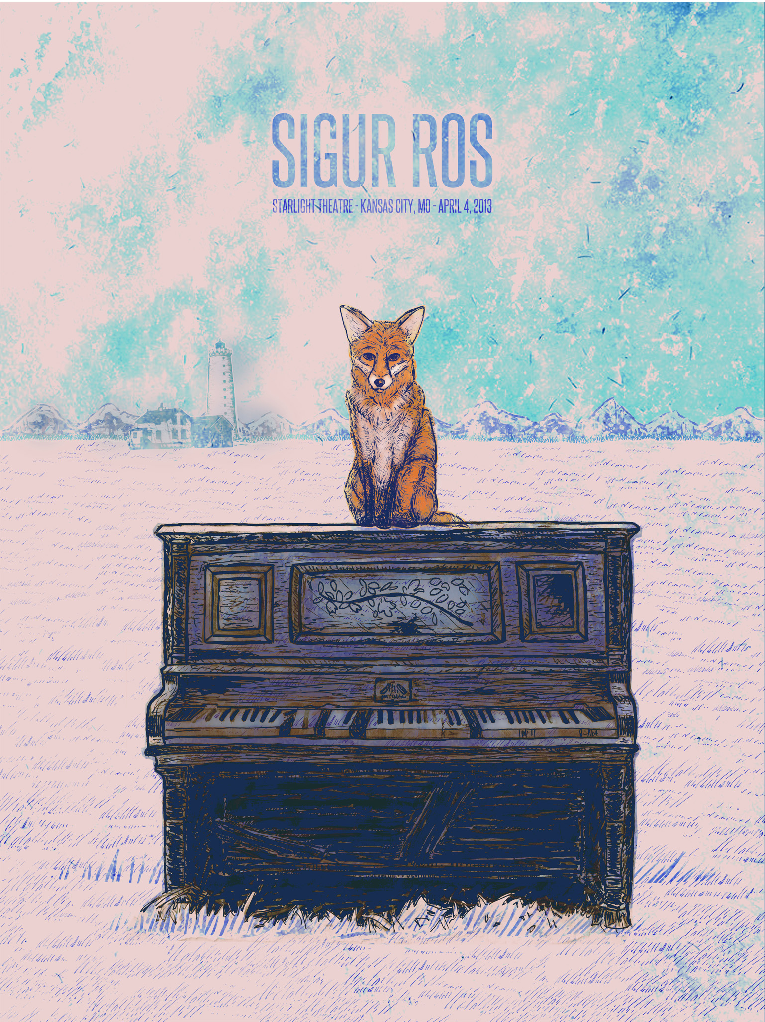 Sigur Ros Gig Poster  - image 14 - student project