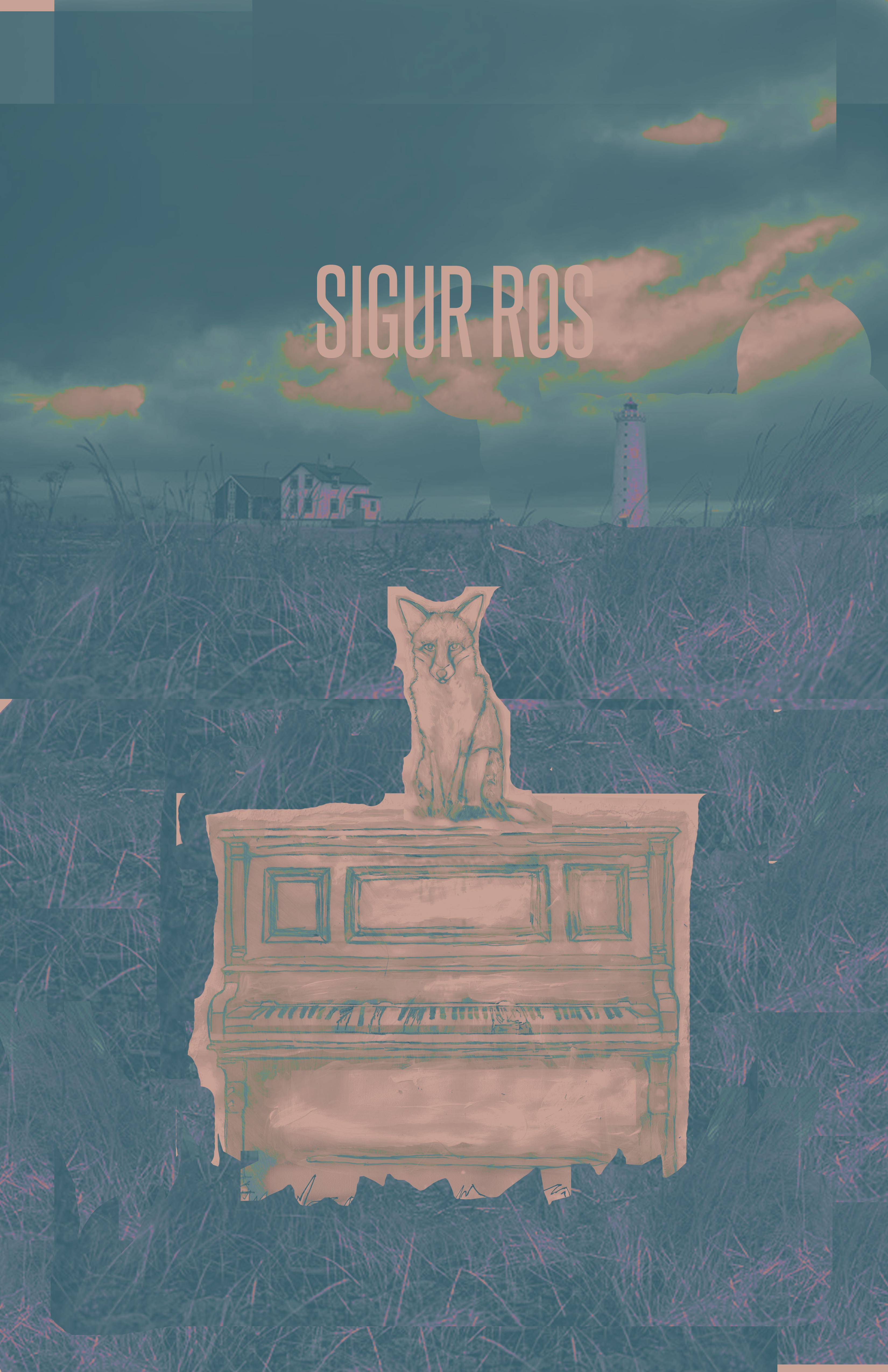 Sigur Ros Gig Poster  - image 8 - student project
