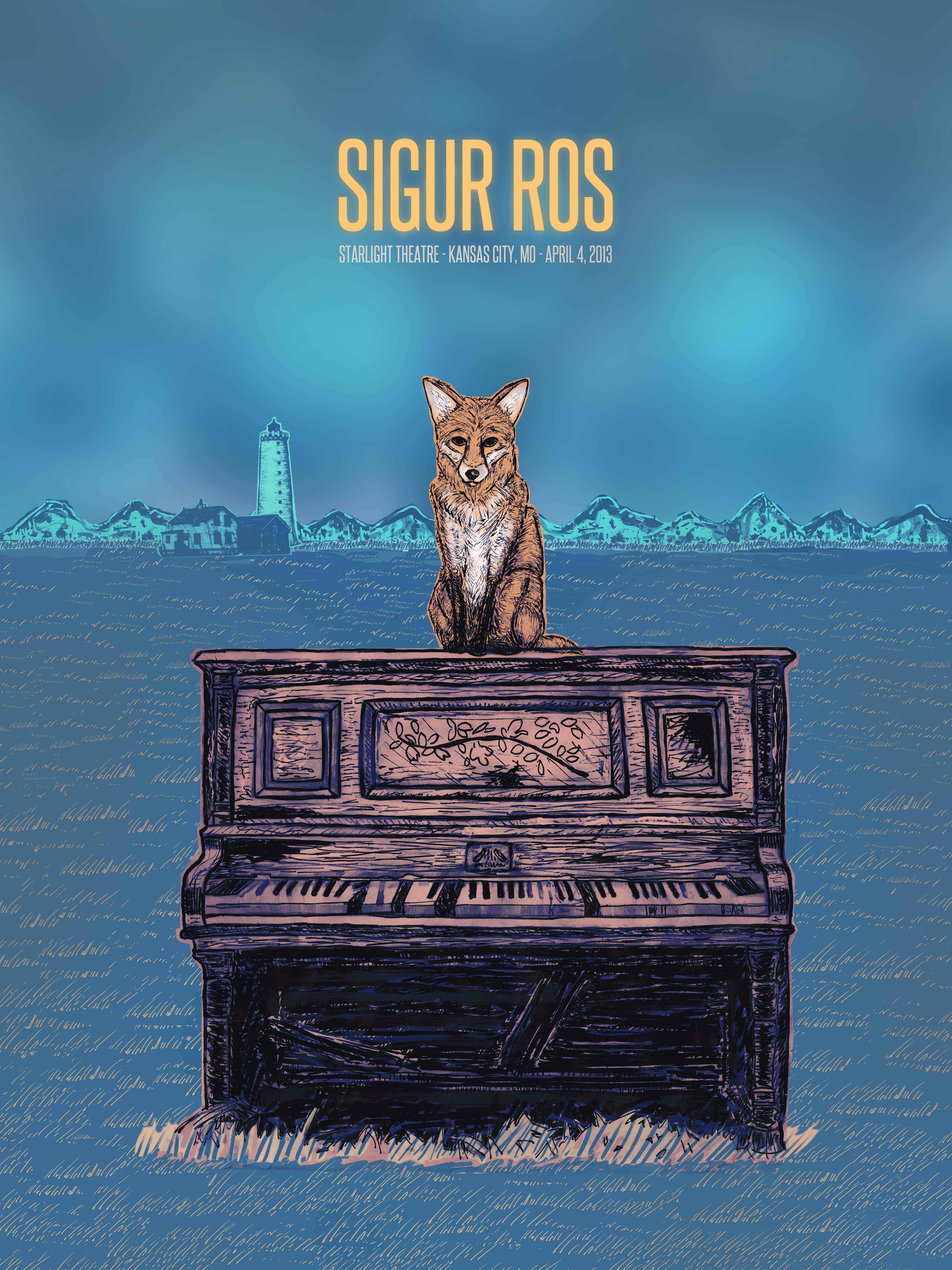 Sigur Ros Gig Poster  - image 11 - student project