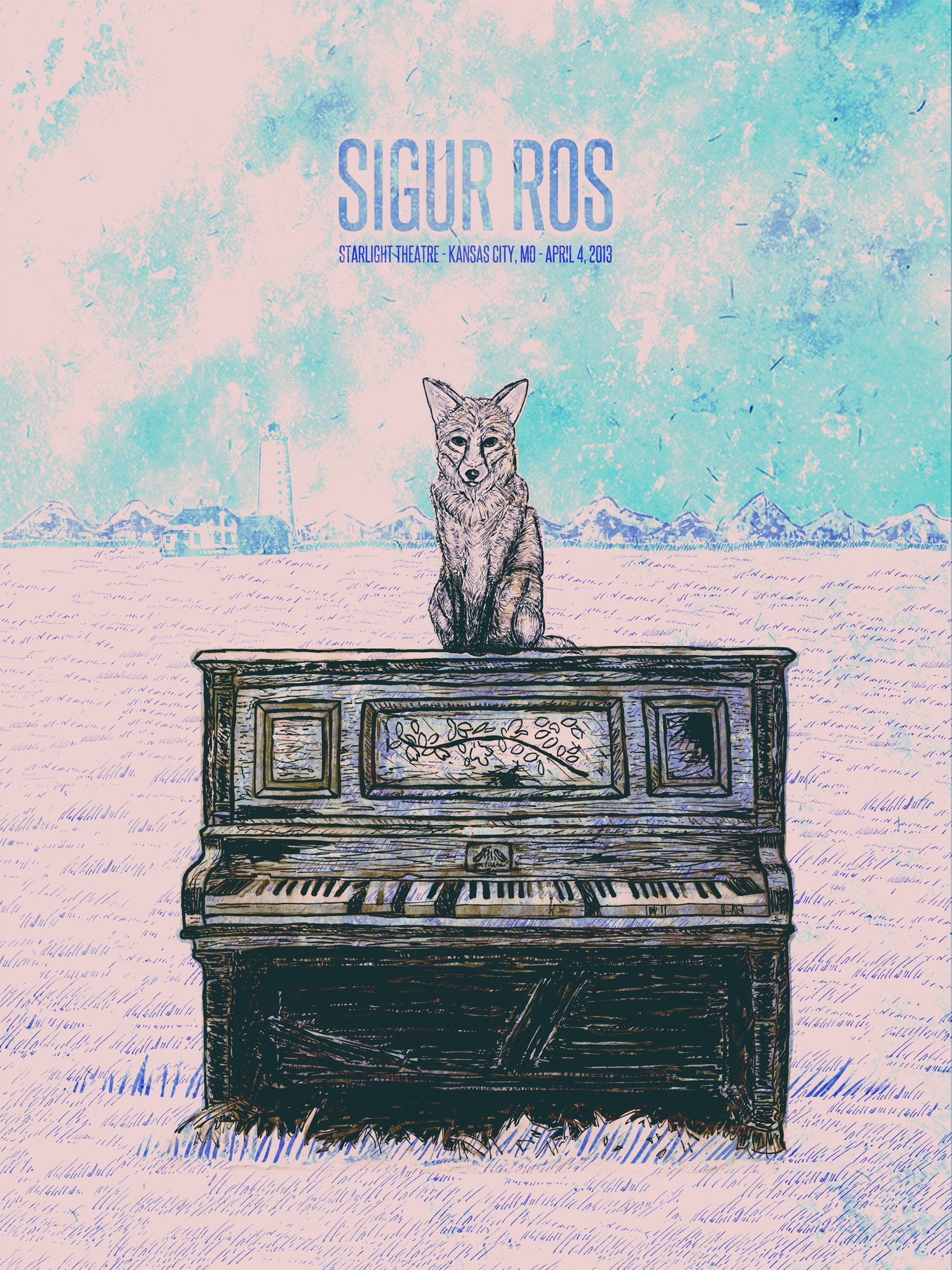 Sigur Ros Gig Poster  - image 13 - student project
