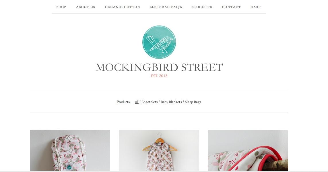 Mockingbird Street - organic baby bedding - image 2 - student project