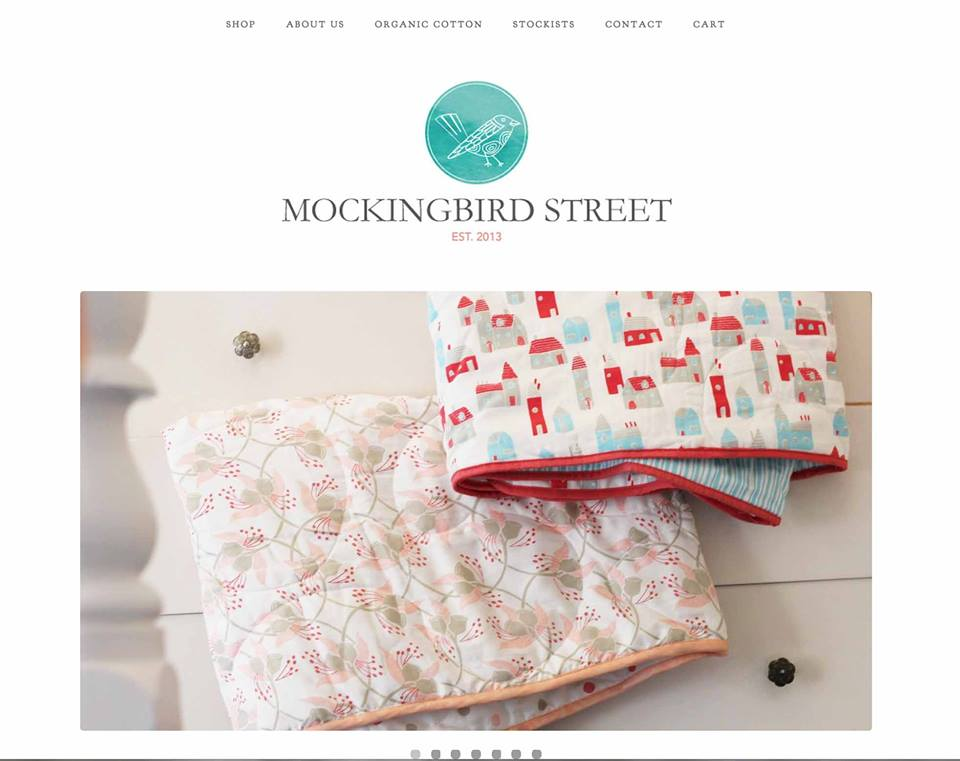 Mockingbird Street - organic baby bedding - image 1 - student project