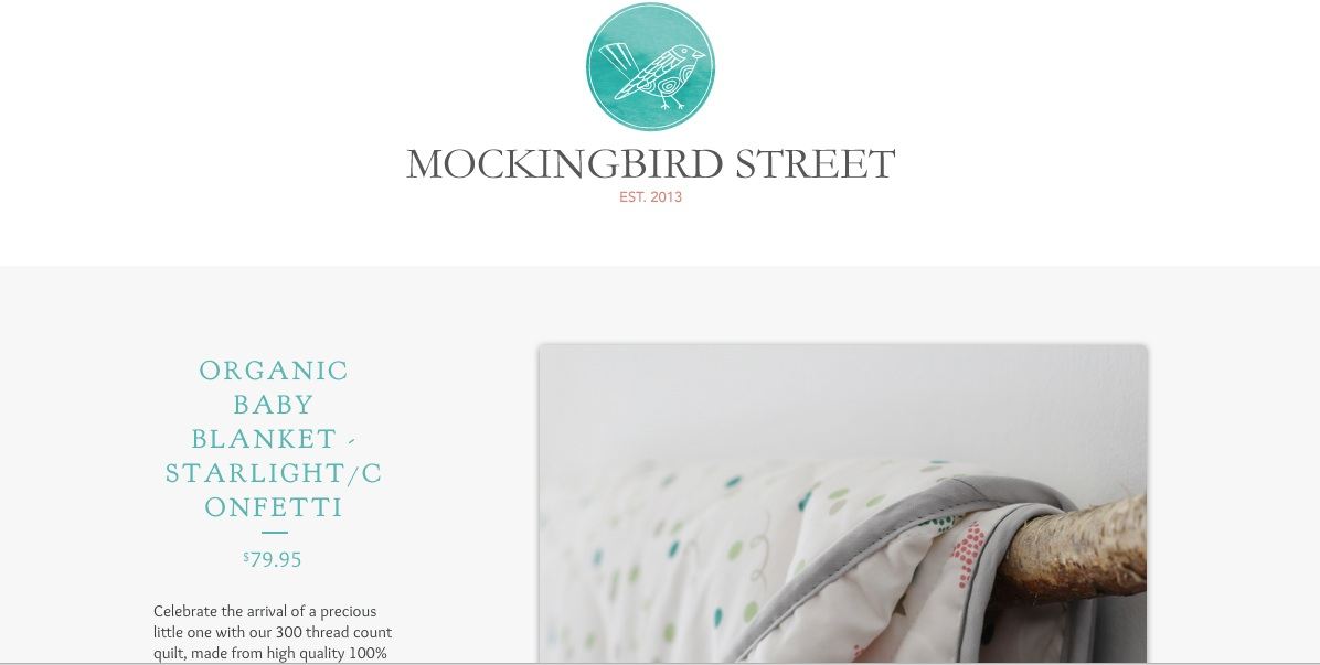 Mockingbird Street - organic baby bedding - image 3 - student project