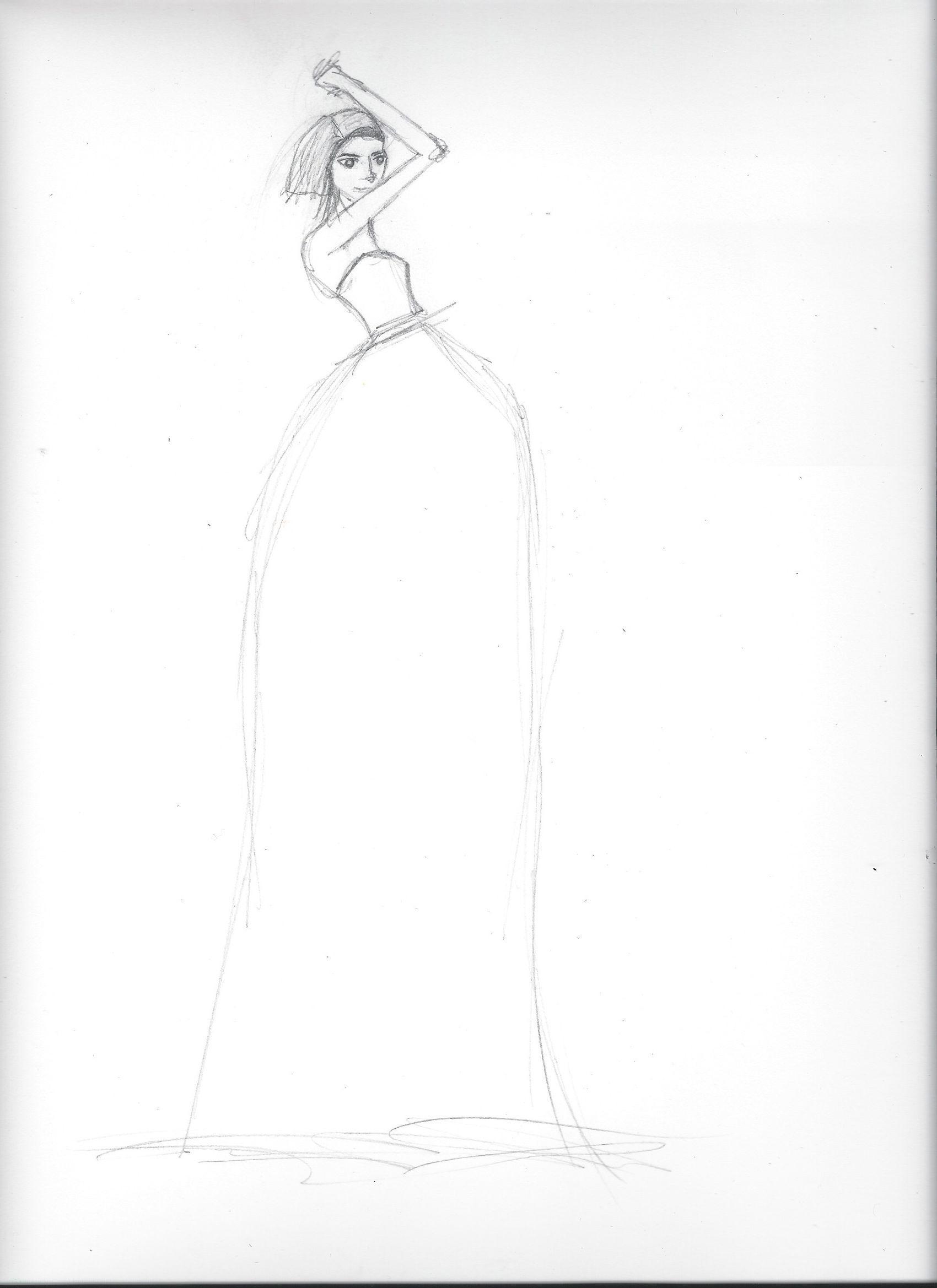 FINAL embellishment/watercolor Melissa Nadine fashion illustration - image 8 - student project