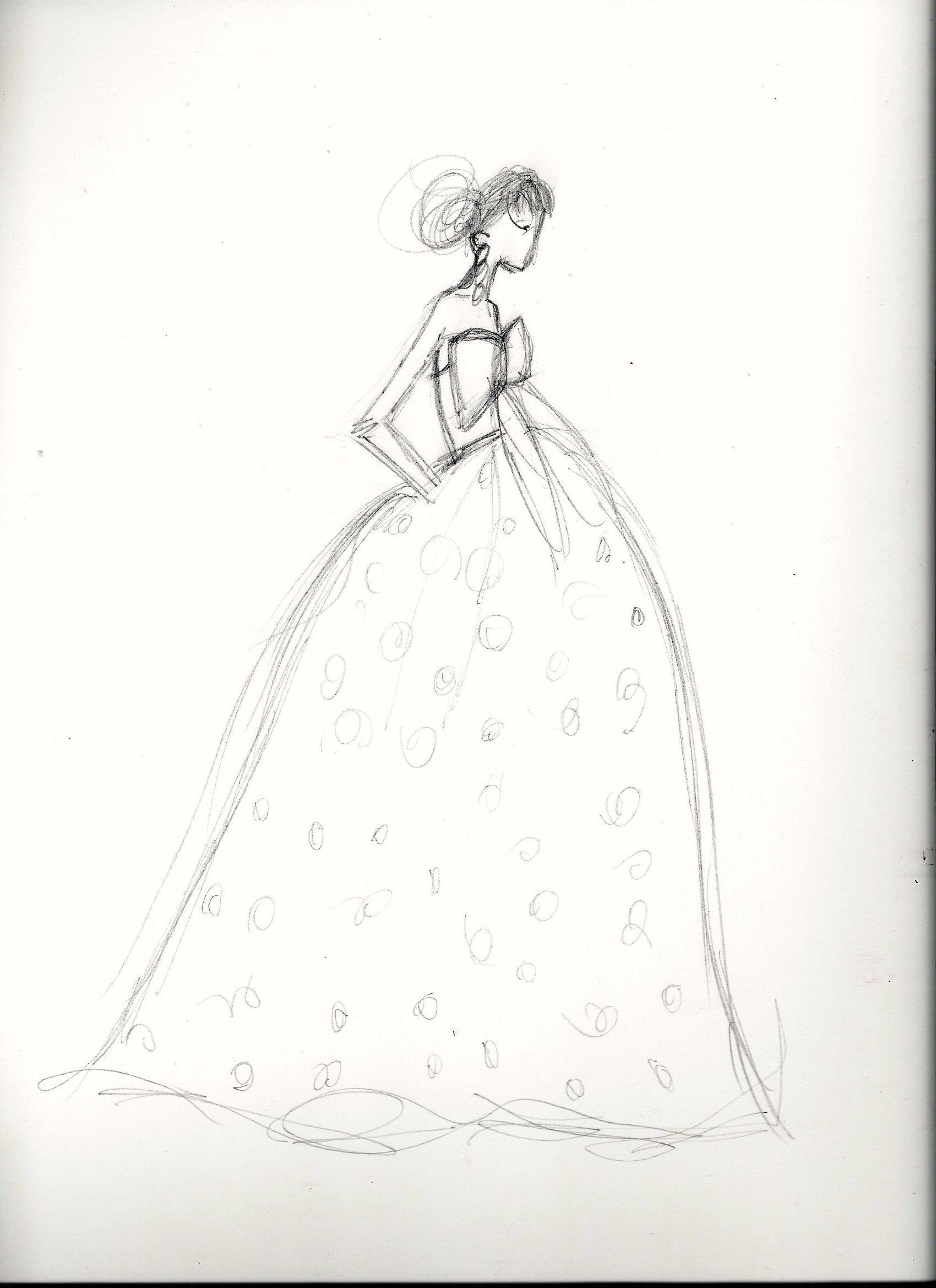 FINAL embellishment/watercolor Melissa Nadine fashion illustration - image 2 - student project