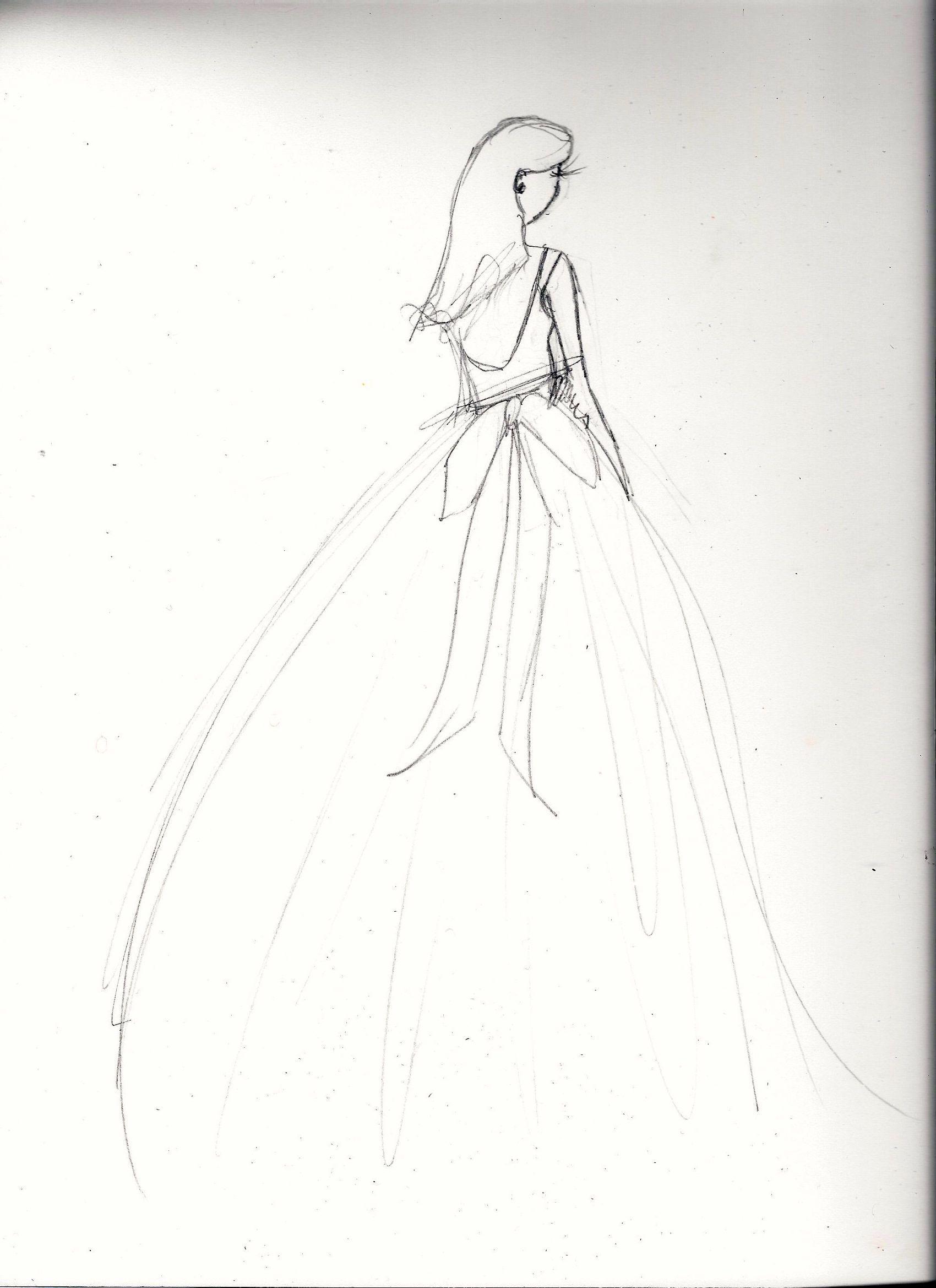 FINAL embellishment/watercolor Melissa Nadine fashion illustration - image 5 - student project
