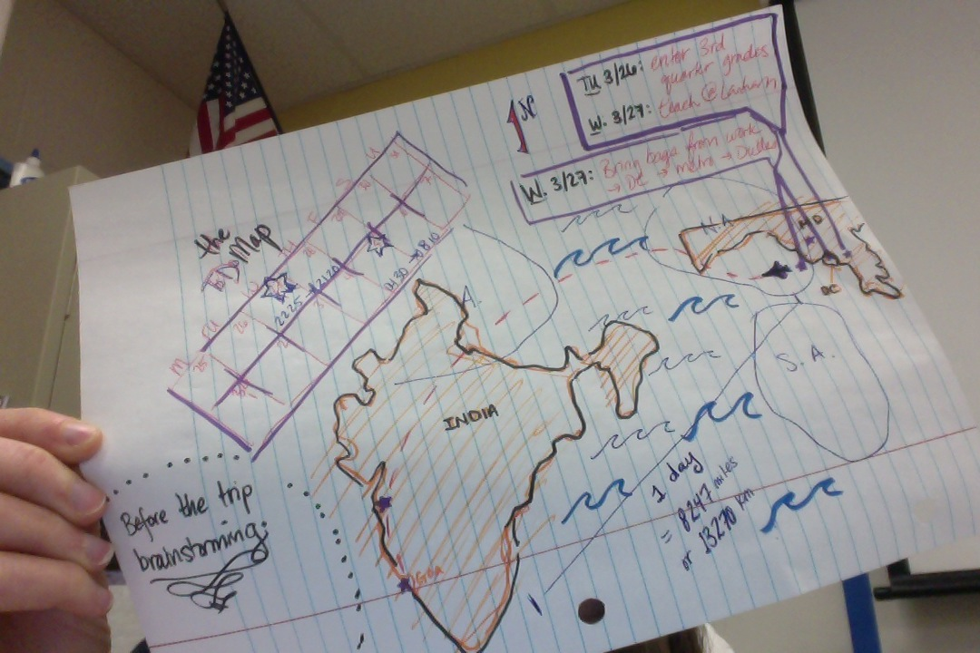 D.C. to Goa:  Mapping a learning experience. - image 1 - student project