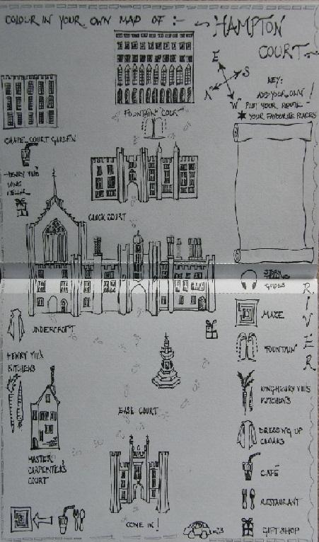 Kids Colour In Your own Map of: Hampton Court Palace! - image 1 - student project