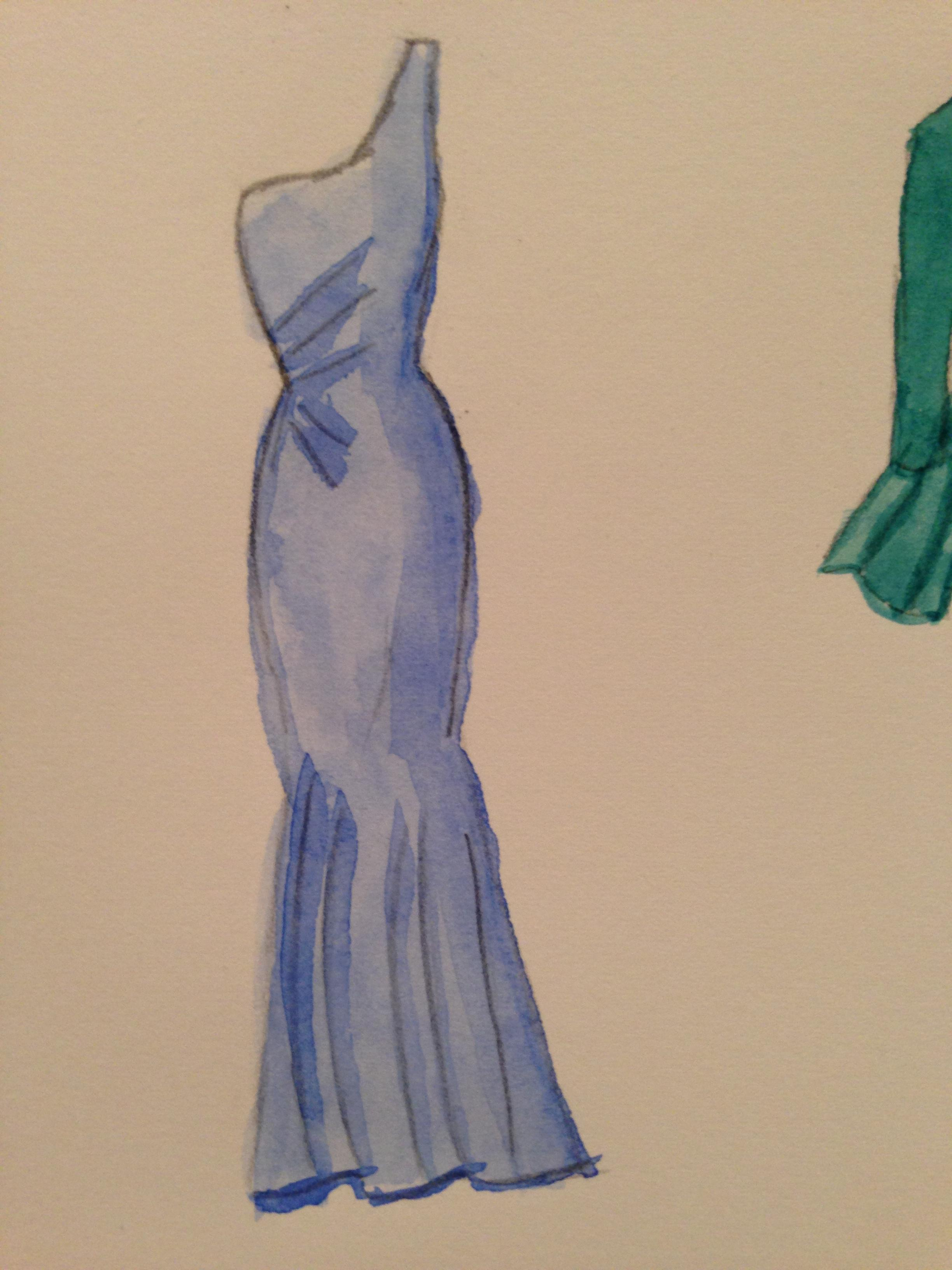 WATERCOLOR -- Dresses that Inspire - image 5 - student project