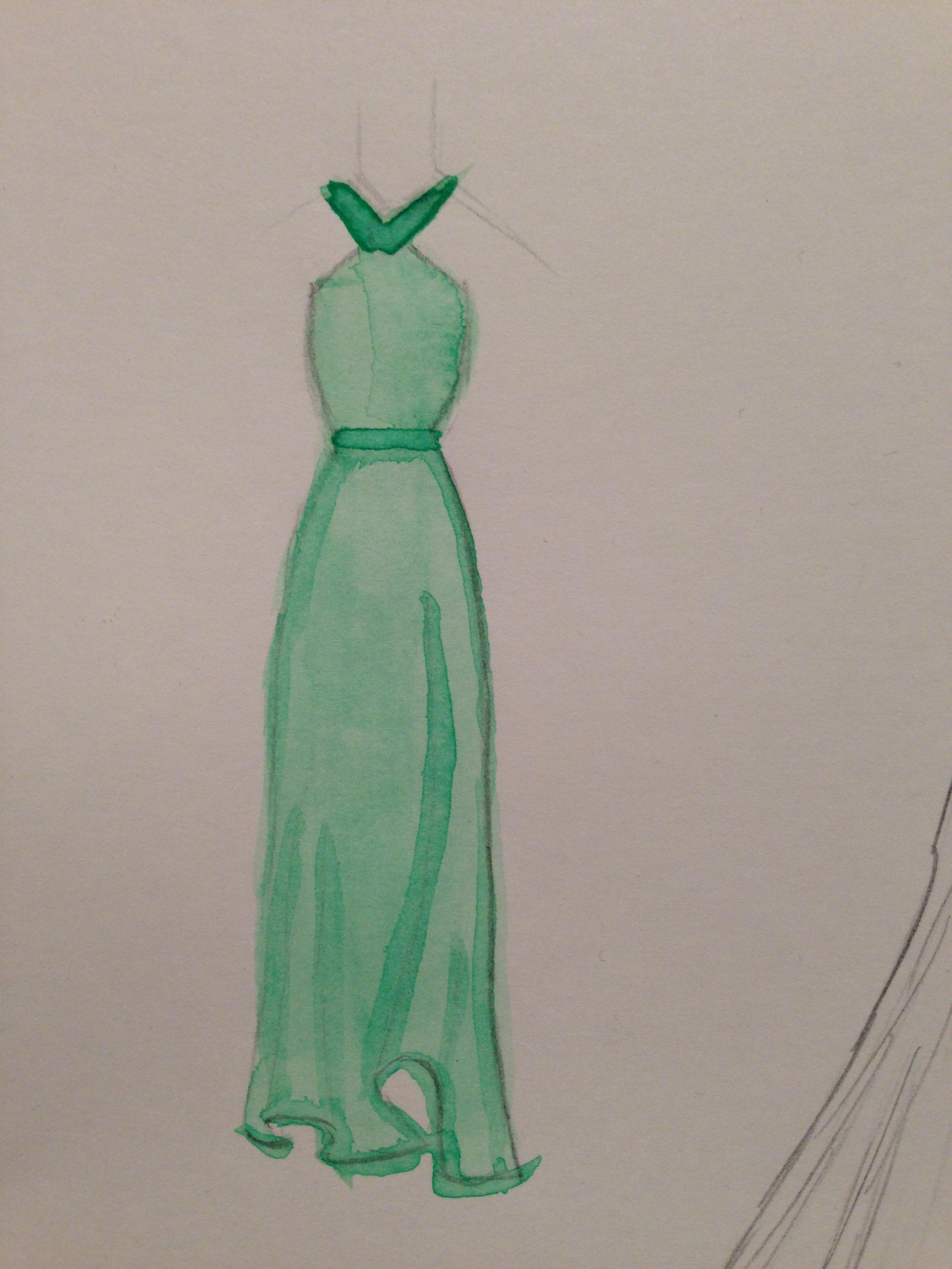 WATERCOLOR -- Dresses that Inspire - image 4 - student project