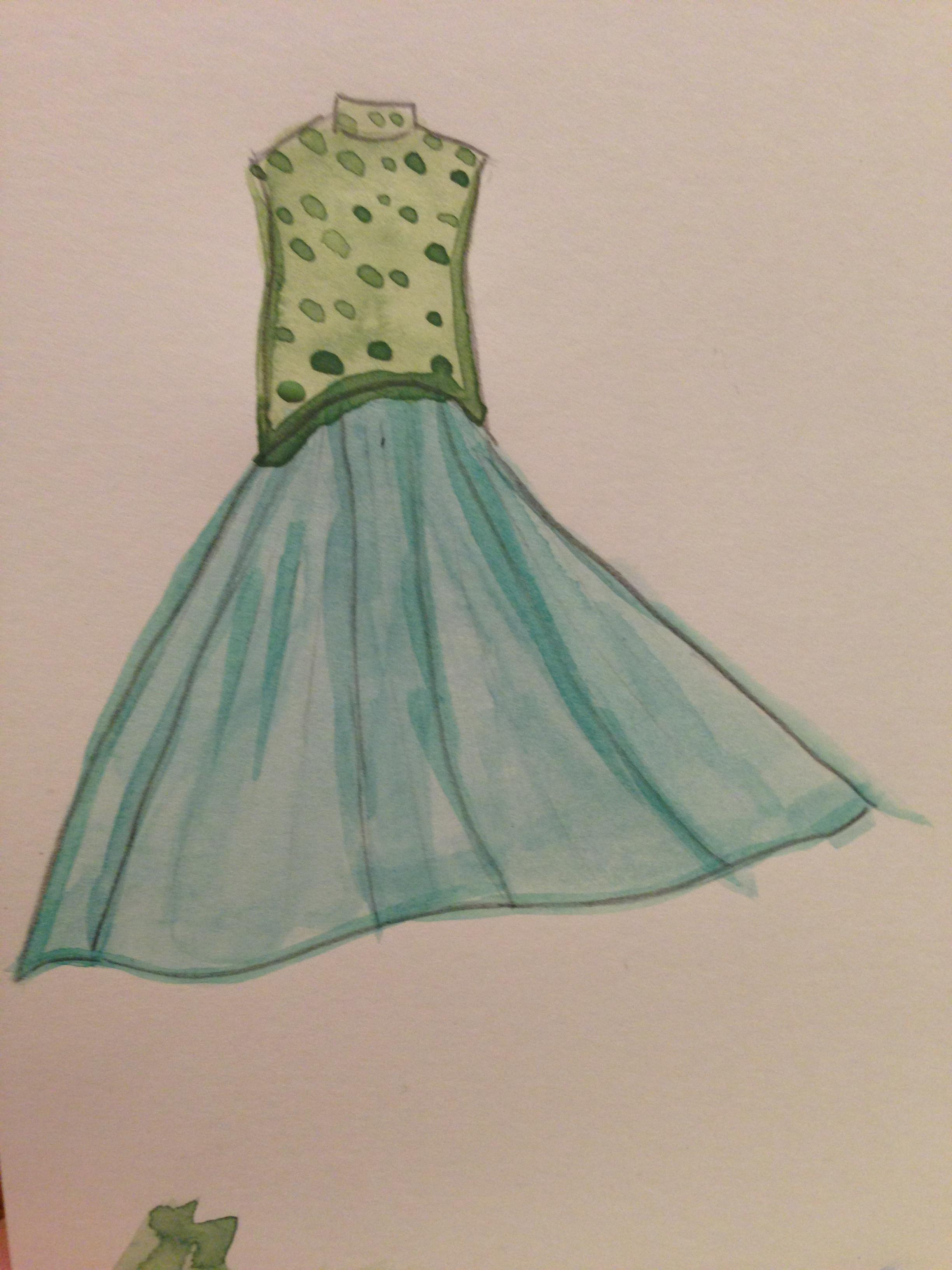 WATERCOLOR -- Dresses that Inspire - image 3 - student project