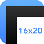 Mat Border Calculator for iPhone - image 1 - student project