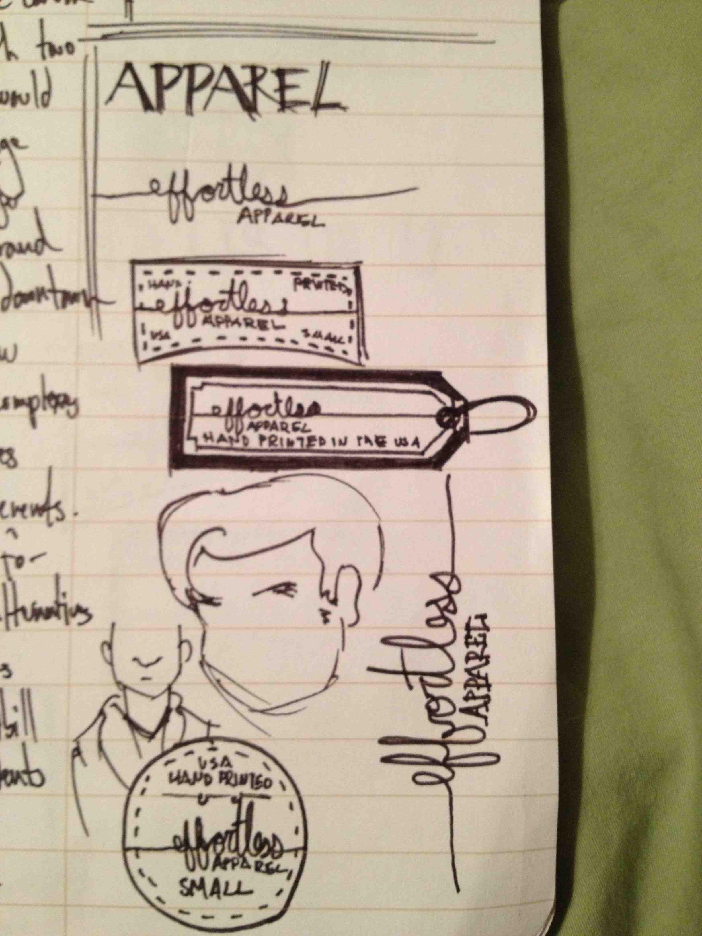 effortless apparel Clothing Tag - image 3 - student project