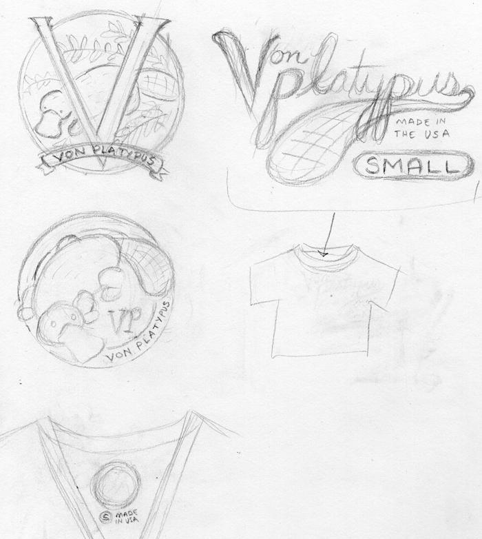 Von Platypus shirt tag - image 2 - student project