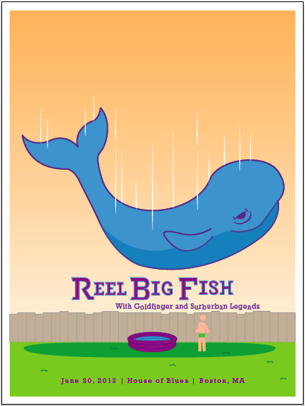 Reel Big Fish (Gig Poster) - image 7 - student project