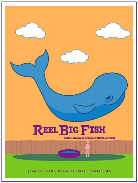 Reel Big Fish (Gig Poster) - image 15 - student project