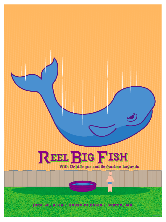Reel Big Fish (Gig Poster) - image 2 - student project