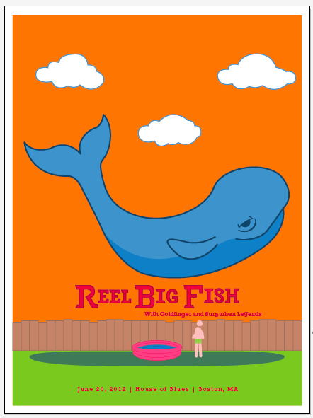 Reel Big Fish (Gig Poster) - image 14 - student project