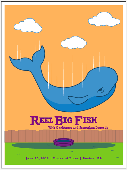 Reel Big Fish (Gig Poster) - image 9 - student project