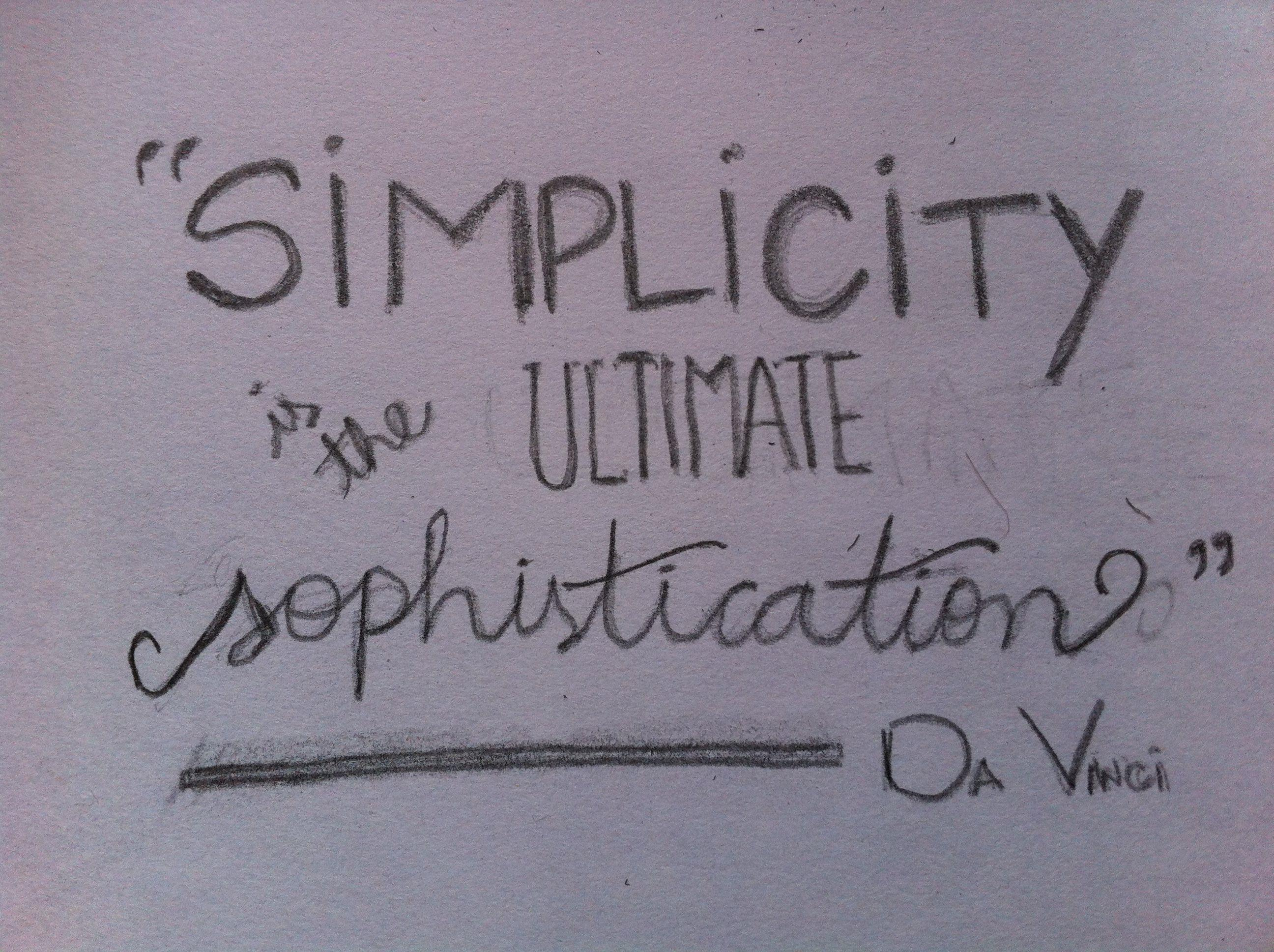 Simplicity + Kindness - image 2 - student project