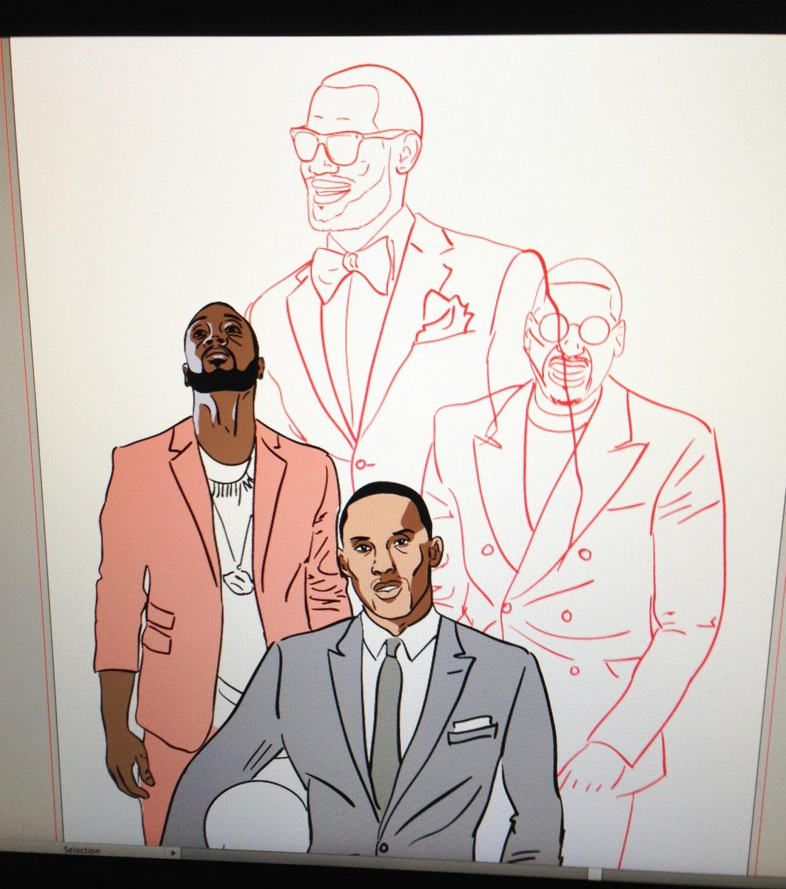 NBA All-Stars Fashion Poster - image 6 - student project