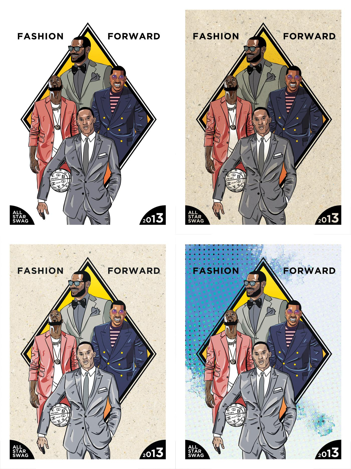 NBA All-Stars Fashion Poster - image 2 - student project
