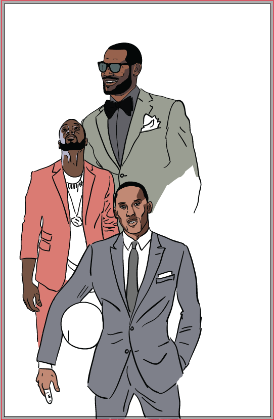 NBA All-Stars Fashion Poster - image 5 - student project