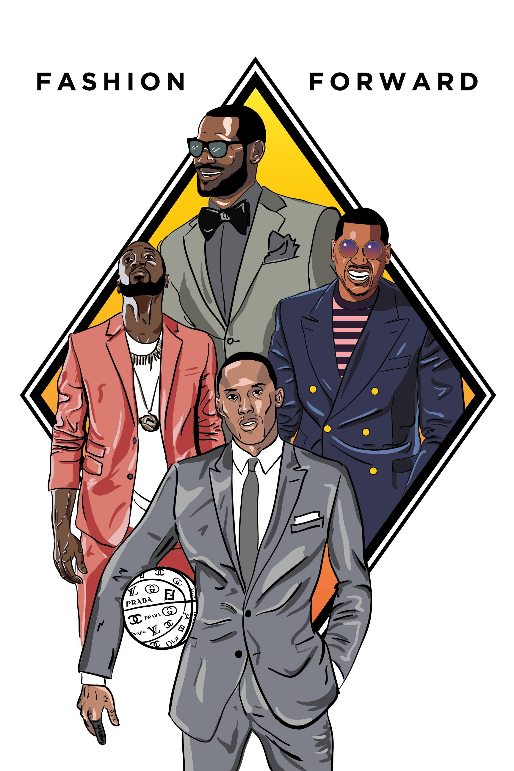 NBA All-Stars Fashion Poster - image 3 - student project