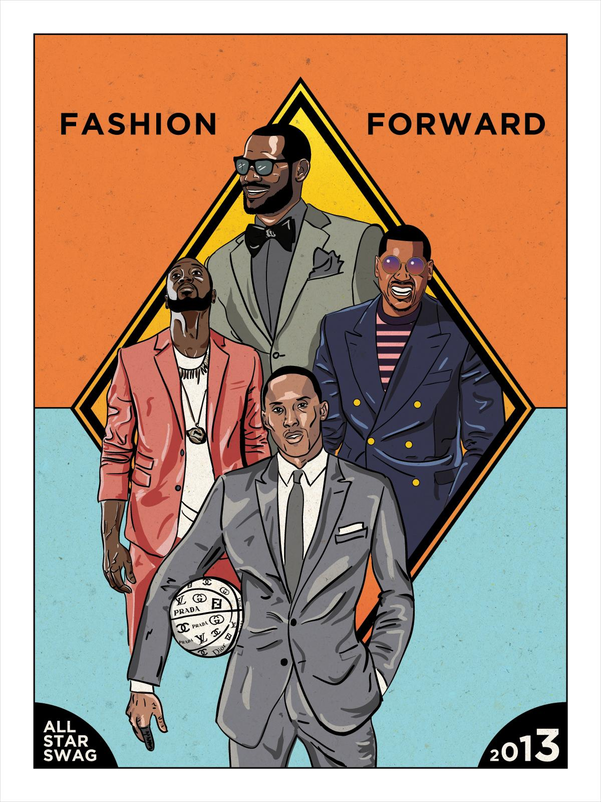 NBA All-Stars Fashion Poster - image 1 - student project