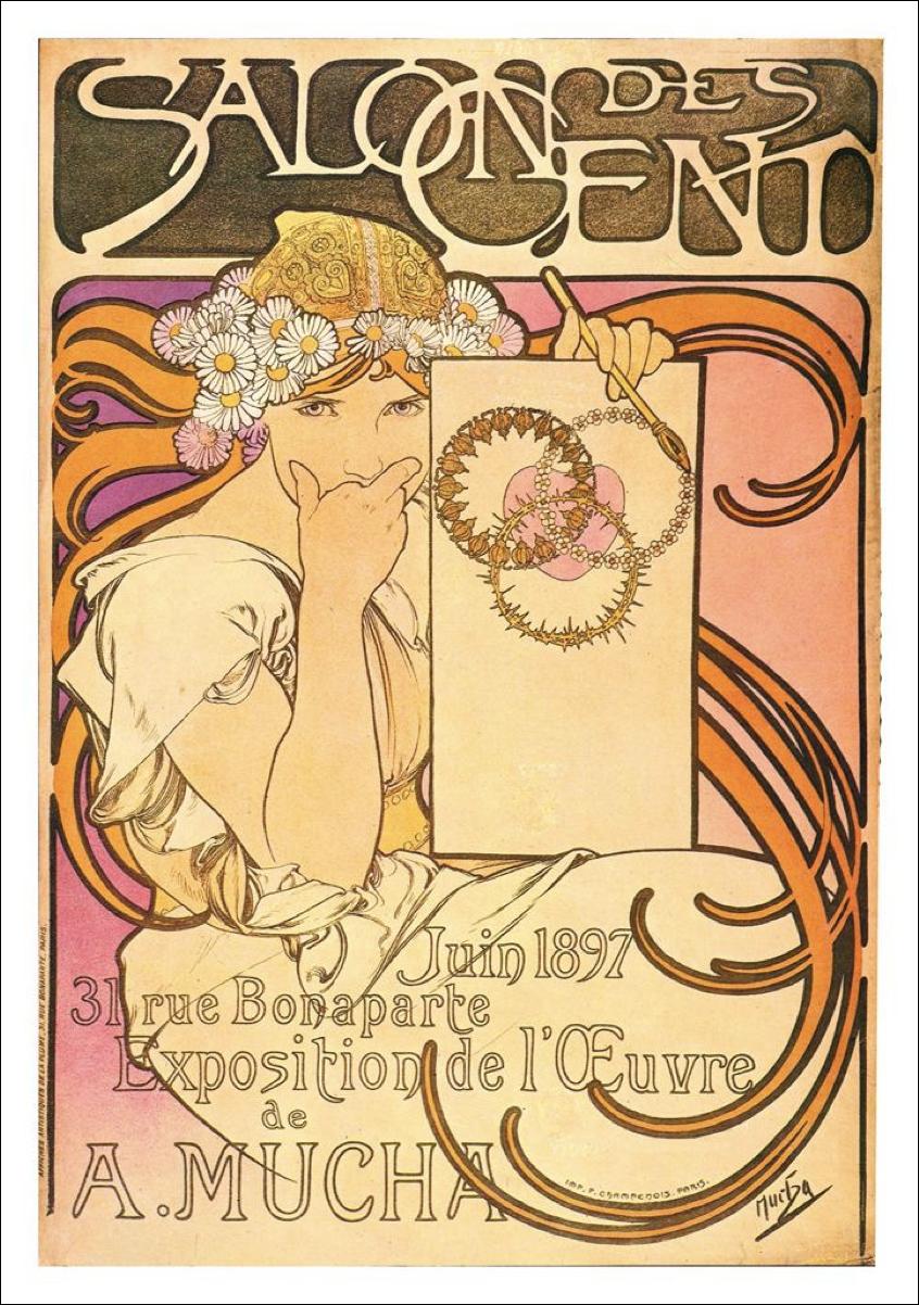 Muse: Vintage Art Nouveau Style - image 1 - student project