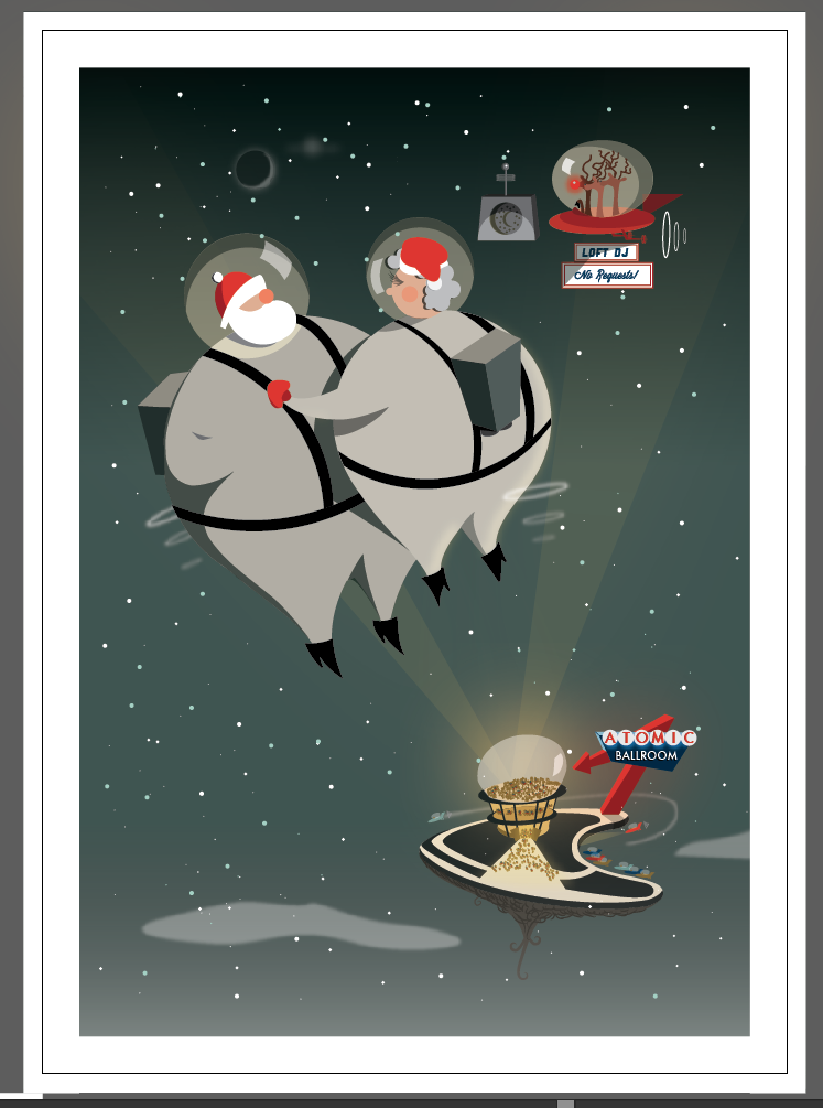 Vintage Inspired Christmas Cards (for small business) - image 11 - student project