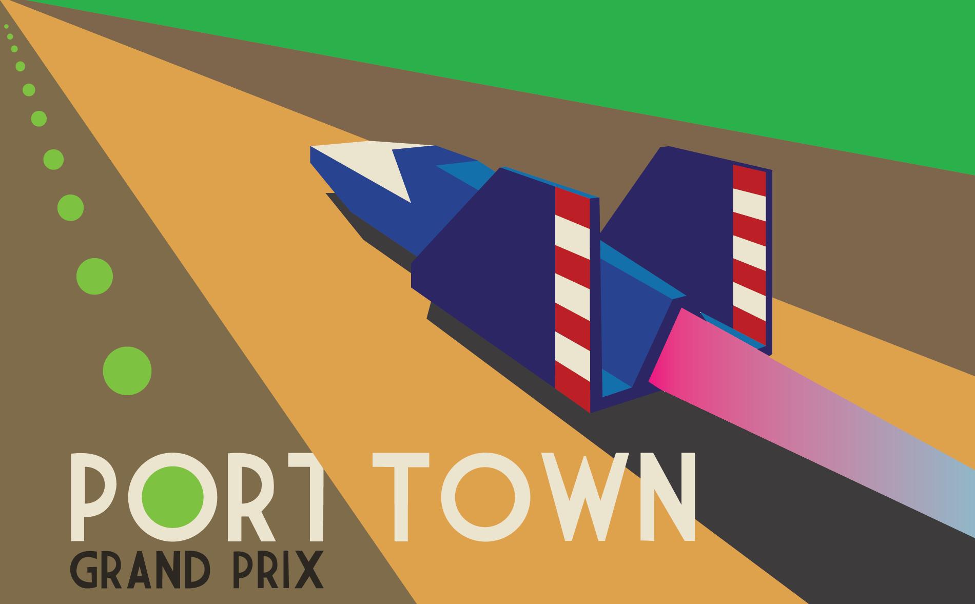 IGN F-Zero Blue Falcon Poster - image 1 - student project