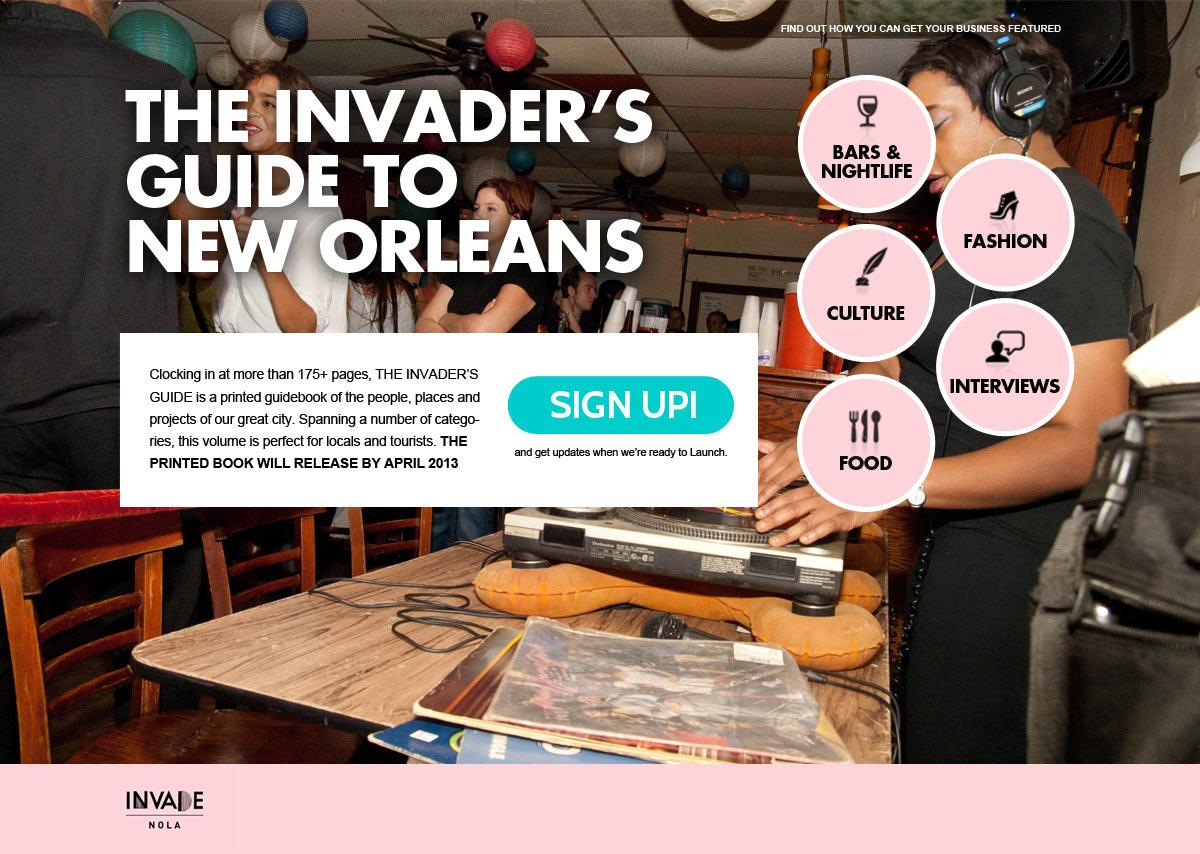 The Invader's Guide to New Orleans - image 1 - student project