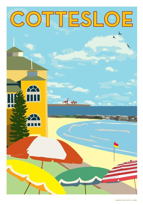 Final version - Cottesloe poster reproduction - image 4 - student project