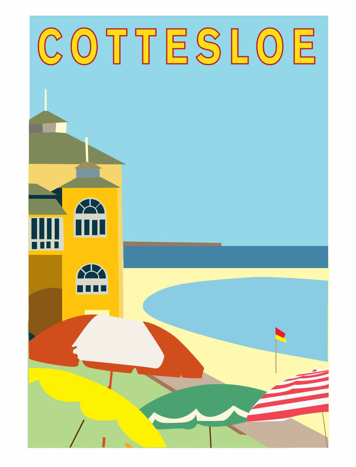 Final version - Cottesloe poster reproduction - image 2 - student project