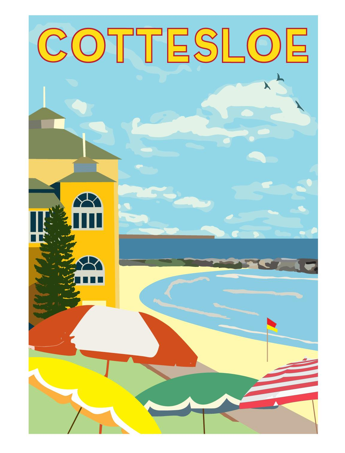 Final version - Cottesloe poster reproduction - image 1 - student project