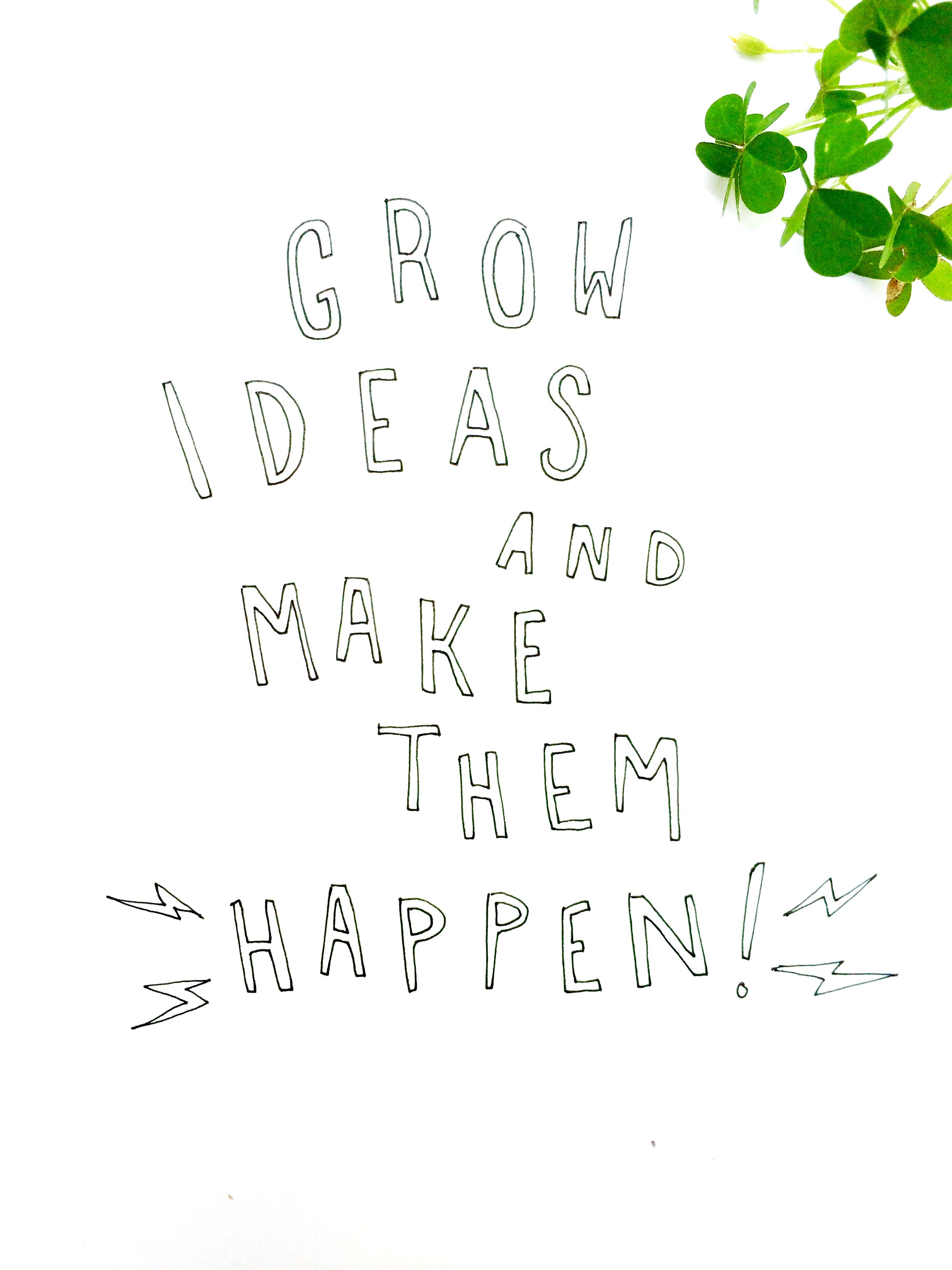 Grow Ideas + Make Them Happen - image 1 - student project