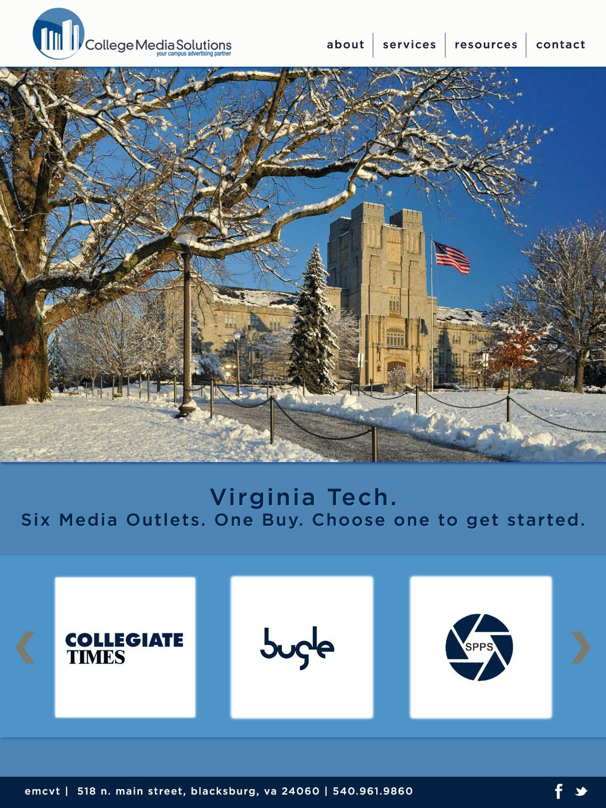 College Media Solutions Redesign - image 2 - student project
