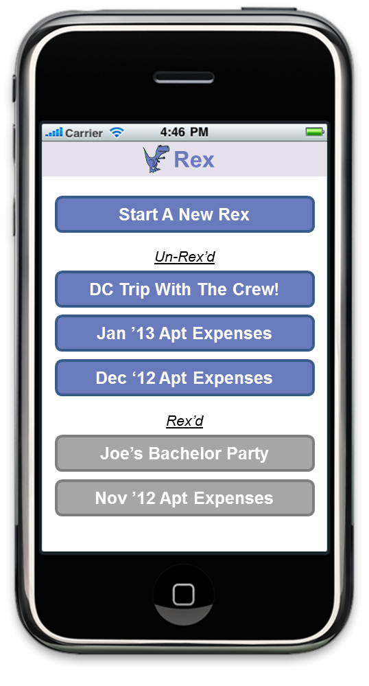 Rex - the expense reconciliation app! - image 1 - student project