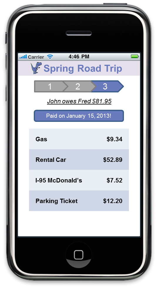 Rex - the expense reconciliation app! - image 5 - student project