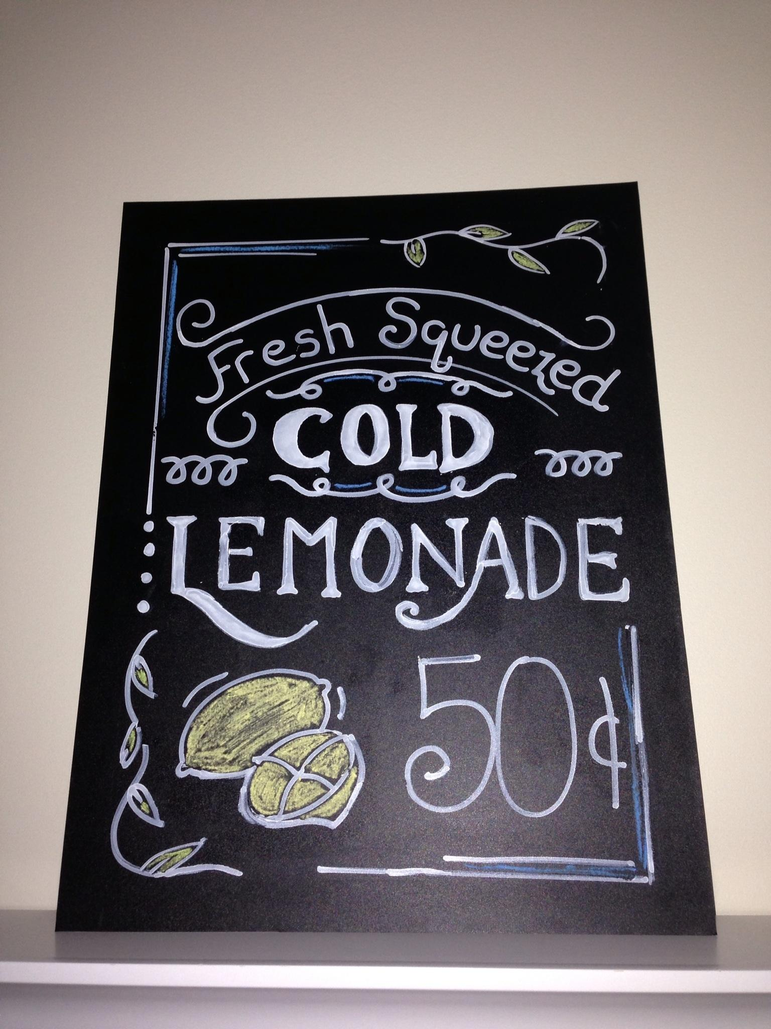 Lemonade Stand Sign - image 2 - student project