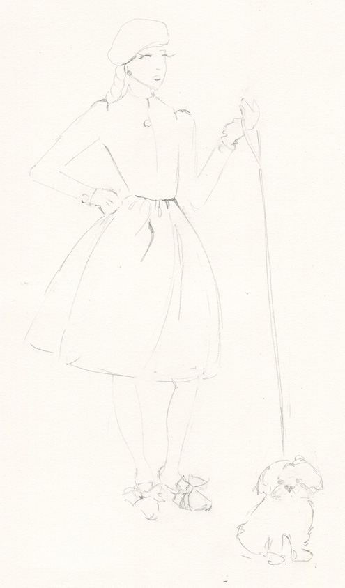 Sketches: Monica's Retro Inspiration - image 1 - student project