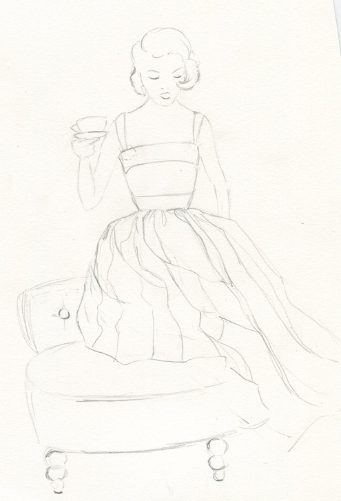 Sketches: Monica's Retro Inspiration - image 2 - student project